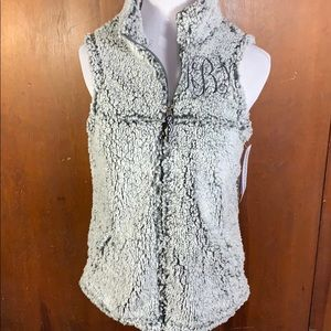 NWT Boxercraft Sherpa Vest KMB Embroidered